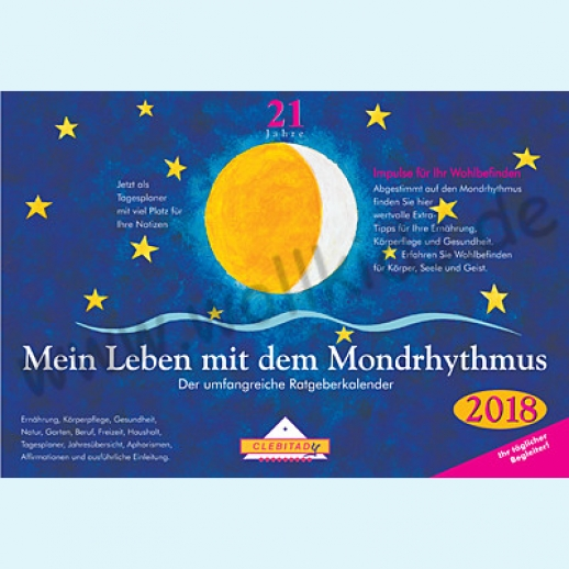 NEU: Mondkalender Mondrhythmus Taschenkalender 2018 aus dem Clebitady Verlag