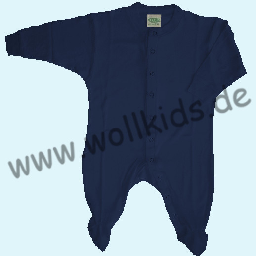 ALKENA Baby Strampler Schlafanzug Bourette Seide - wärmeregulierend - marine, terra, sonnengelb