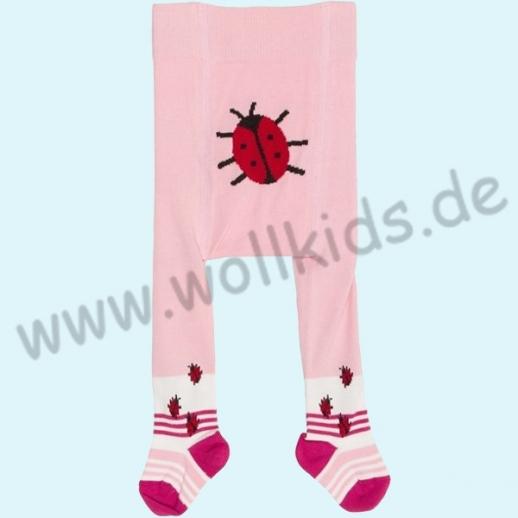 NEU: BIO Baumwolle Grödo Baby Strumpfhose Marienkäfer rosa kbA ORGANIC