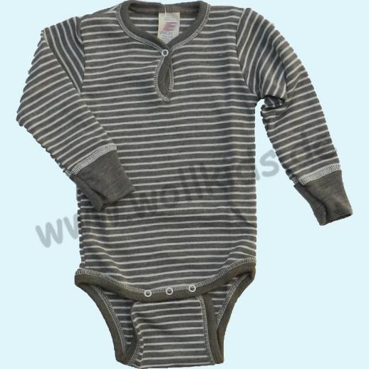 NEU: Engel Baby Body Wolle Seide kbT BIO Organic mit Druckknopf vorn walnuß natur