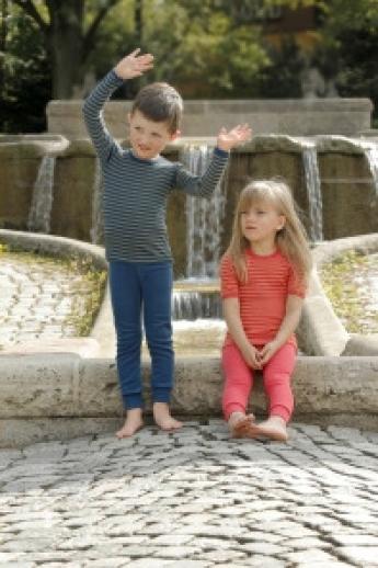 SALE: Engel Kinder Leggin lange Unterhose kbT Wolle - rot - MASCHINENWASCHBAR