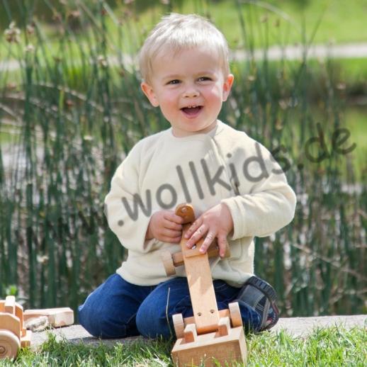 Engel Schurwollfrottee Wickel-Pulli kbT Merino-Wolle NATUR BIO