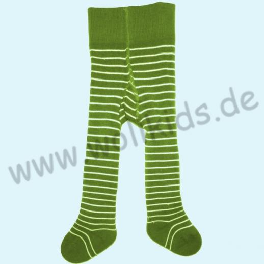 NEU: Grödo Baby Strumpfhose Vollfrottee grün Ringel BIO Baumwolle