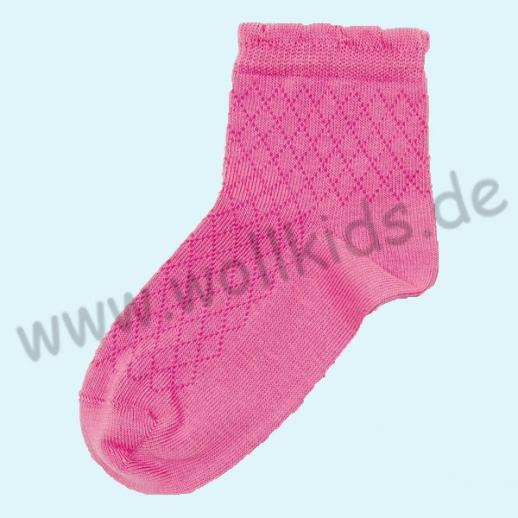 NEU: Grödo Natur - BIO-Baumwolle Kinder Socke Ringel kbA BW pink filet Organic GOTS