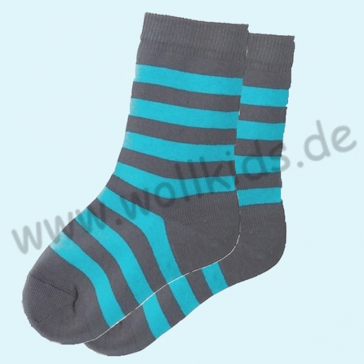 NEU: Grödo Natur Kinder-Socken Ringel kbA BW Organic BIO