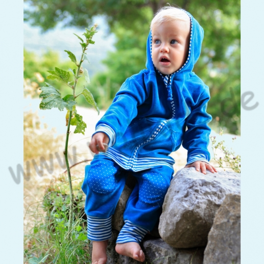 NEU: Leela Cotton Nicky Zipfelkapuzenjacke saphir blau Jacke Sommer