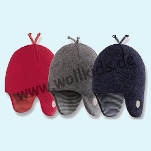 NEU: Pure-Tex Weiche Wollfleece Mütze Inka, kbT Schurwolle 3 Farben