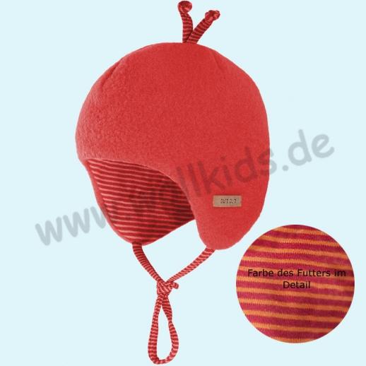 PURE-TEX Weiche Wollfleece Mütze, kbT Schurwolle viele Farben
