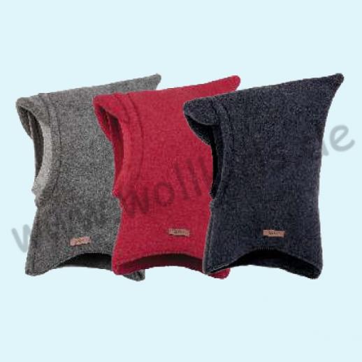 NEU: Pure-Tex Weiche Wollfleece Mütze Schlupfmütze Schal Mütze Schalmütze, GOTS, kbT Schurwolle 3 Farben Organic