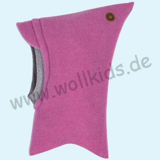 SALE: Pure-Tex Weiche Wollfleece Mütze Schlupfmütze Schal Schalmütze mit Reflektor, GOTS, kbT Wolle