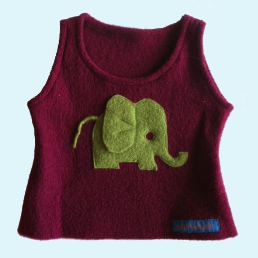 Schlupfweste Beere Elefant apfelgrün Walk Pulunder