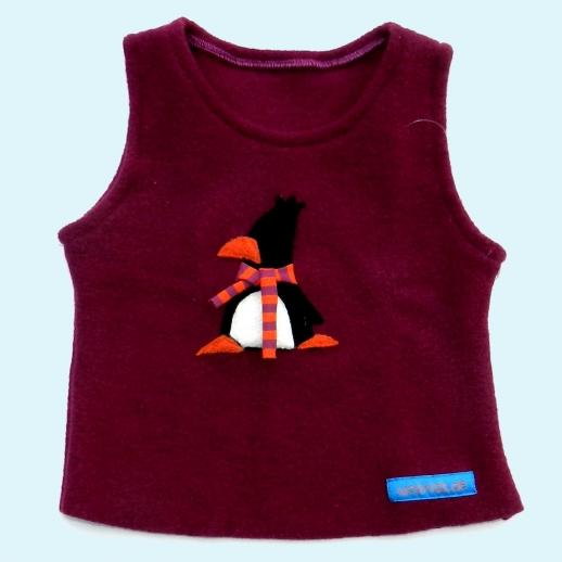 WOLLKIDS Schlupfweste Beere Pinguin Walk Pullunder