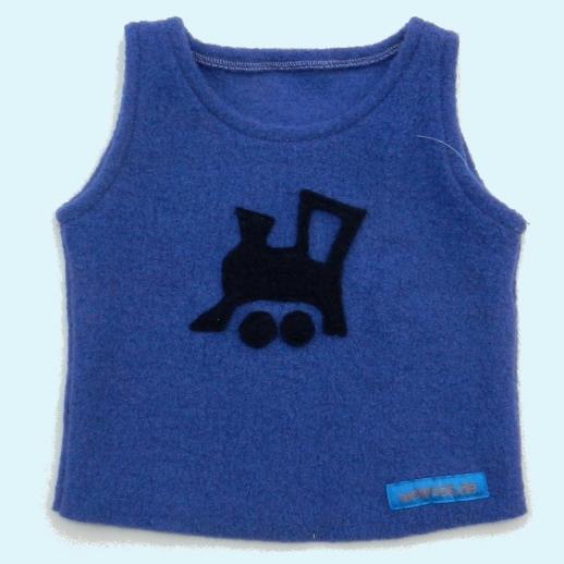 Schlupfweste blau mit Lokomotive Lok marine Pullunder Walk