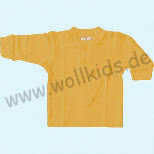 NEU: Sonderfarben ALKENA Knopfshirt Langarm Bourette Seide - Pulli Shirt - sensible Haut - Neurodermitis marine, rot, gelb