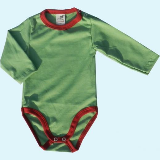 NEU: Storchenkinder Babybody Body - unisex - grün - BIO Baumwolle
