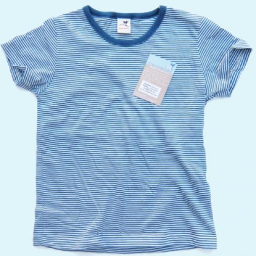 NEU: Storchenkinder Sommershirt - unisex - blau Ringel - BIO Baumwolle