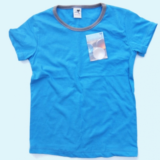 NEU: Storchenkinder Sommershirt - unisex - blau türkis - BIO Baumwolle