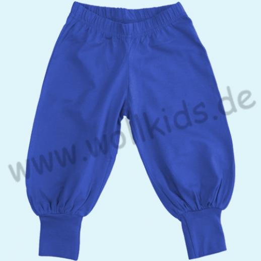 SALE: DUNS BIO-Baumwolle GOTS - Baggy pants - Hose mit Beinbündchen blau