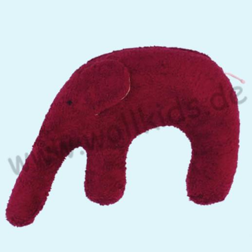 Pat & Patty: Kuschel Elefant brombeer Bio Hirse Nackenkissen 100% kbA Baumwolle