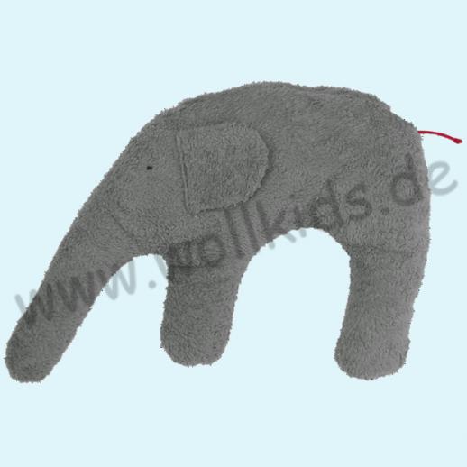 Pat & Patty: Kuschel Elefant grauBio Hirse Nackenkissen 100% kbA Baumwolle