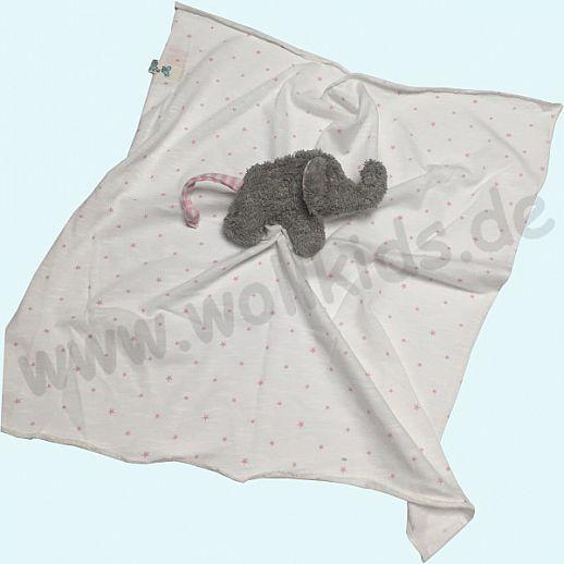 Pat & Patty: Schnuffeltuch Schmusetuch Spuktuch Elefant 100% kbA Baumwolle rosa