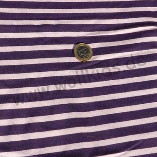 Wundervoller Jersey pflaume flieder Ringel - TRAUMHAFT