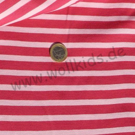 Wundervoller Jersey pink rose Ringel - TRAUMHAFT