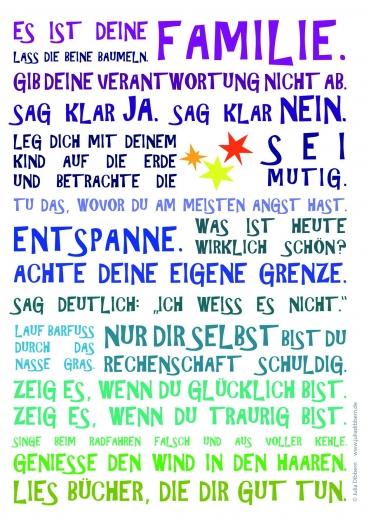 Postkarte von Julia Dibbern: Es ist Deine Familie 2 Sterne