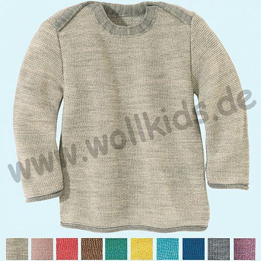 DISANA - Melange - Pullover - 100% kbT-Schurwolle GOTS Babypulli