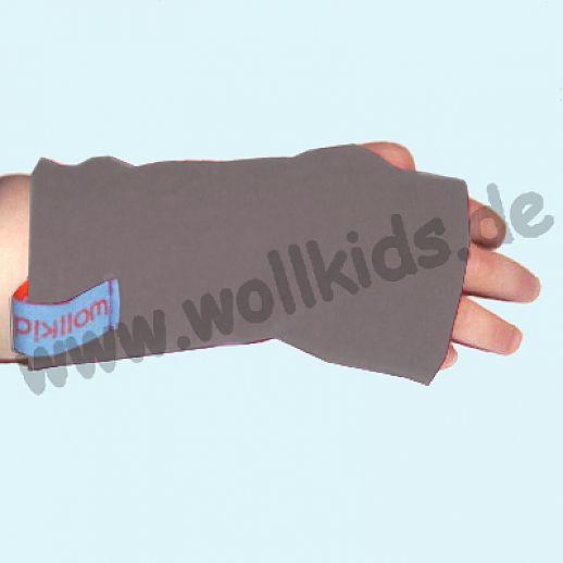 Walk-Pulswärmer für Baby & Kind - ökologisch - warm - weich - hellgrau