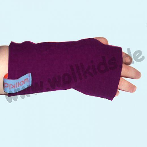 Walk-Pulswärmer für Baby & Kind - ökologisch - warm - weich - lila