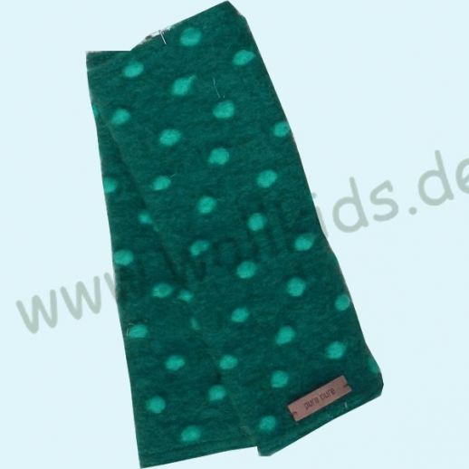 NEU: Pure-Tex Walk Handstulpe Pulswärmer, kbT Schurwolle dunkelgrün-smaragd