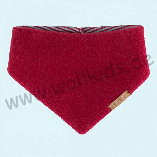 Puretex Schal, Halstuch, Tuch, Dreiecktuch kbT Schurwolle Wollfleece - kirsch rot