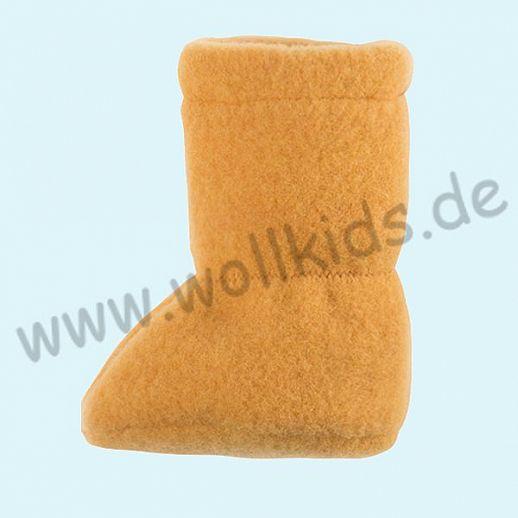 PURE PURE by Bauer: Wollfleece weiche Babystiefel - Schuhe ideal auch für Traglinge - curry