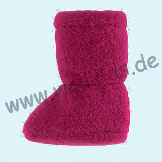 PURE PURE by Bauer: Wollfleece weiche Babystiefel - Schuhe ideal auch für Traglinge - himbeer