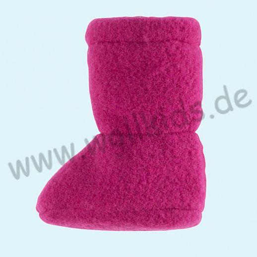 PURE PURE by Bauer: Wollfleece weiche Babystiefel - Schuhe ideal auch für Traglinge - pink