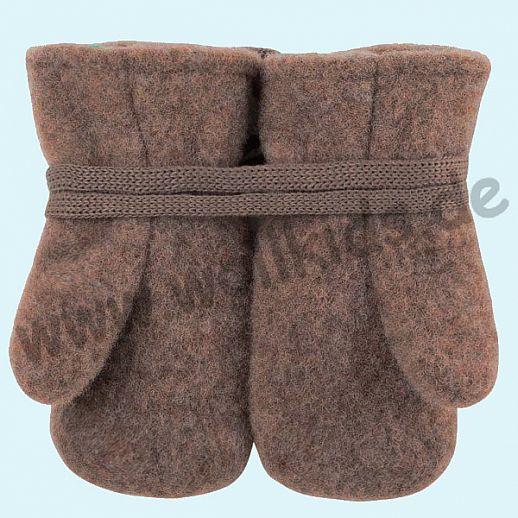 NEU in 3 Größen! PURE PURE by Bauer: Richtig warme weiche Wollfleece Handschuhe Fäustlinge walnuß
