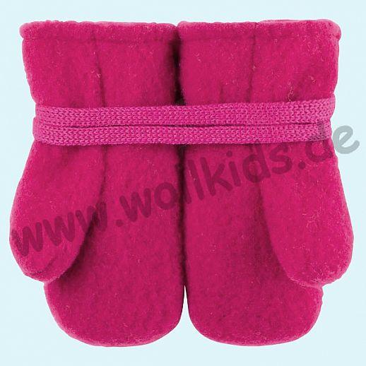 NEU in 3 Größen! PURE PURE by Bauer: Richtig warme weiche Wollfleece Handschuhe Fäustlinge himbeer