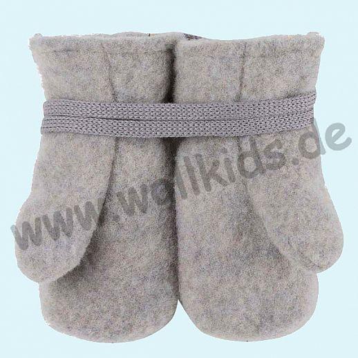 NEU in 3 Größen! PURE PURE by Bauer: Richtig warme weiche Wollfleece Handschuhe Fäustlinge hellgrau melange