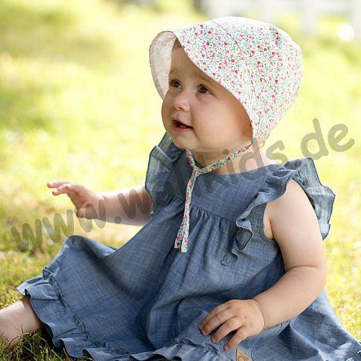 NEU: Baby Sonneschutz Häubchen - bezaubernder Schnitt - Häubchen wie aus Omas Zeiten