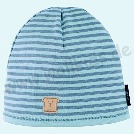 NEU: Kinder Sonnenschutz Mütze mit UV Schutz UPF 20-25 - Beanie - blau Ringel
