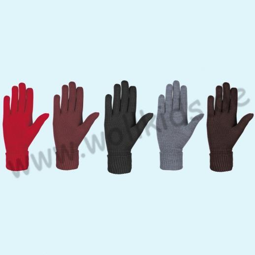 NEU & GENIAL: Endlich auch für Damen... Fingerhandschuhe aus reiner Schurwolle