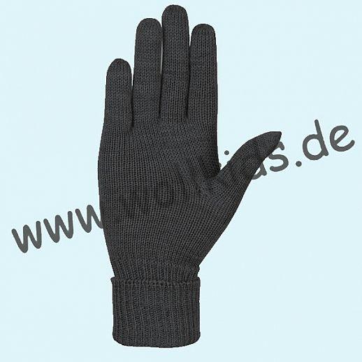 NEU & GENIAL: Endlich auch für Damen: Fingerhandschuhe aus reiner Schurwolle anthrazit