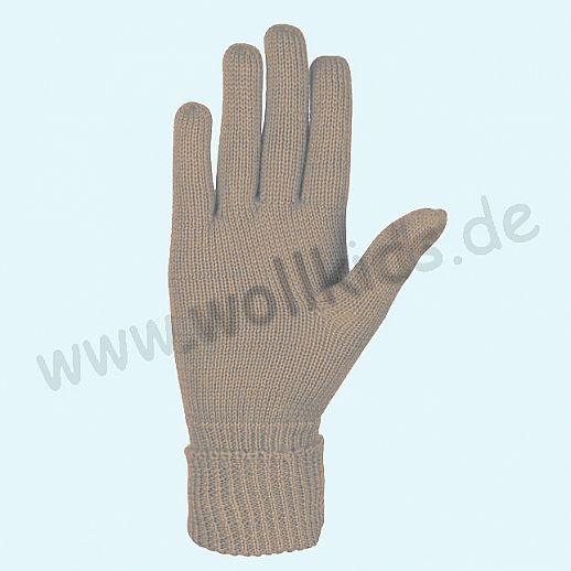 NEU & GENIAL: Endlich auch für Damen: Fingerhandschuhe aus reiner Schurwolle camel