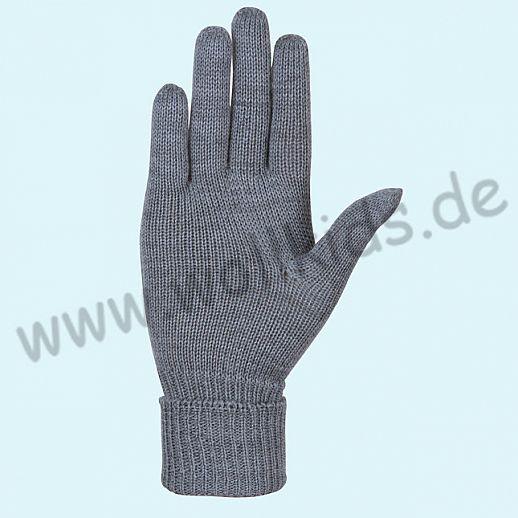 NEU & GENIAL: Endlich auch für Damen: Fingerhandschuhe aus reiner Schurwolle grau melange