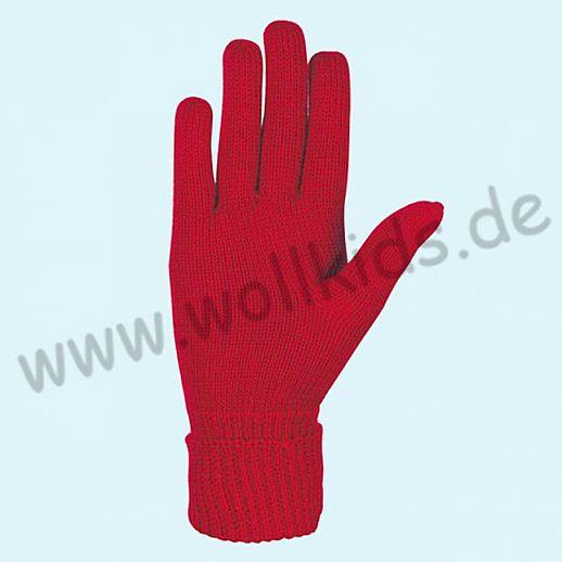 NEU & GENIAL: Endlich auch für Damen: Fingerhandschuhe aus reiner Schurwolle kirsch rot