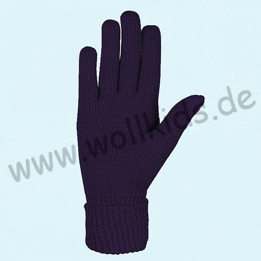 NEU & GENIAL: Endlich auch für Damen: Fingerhandschuhe aus reiner Schurwolle pflaume