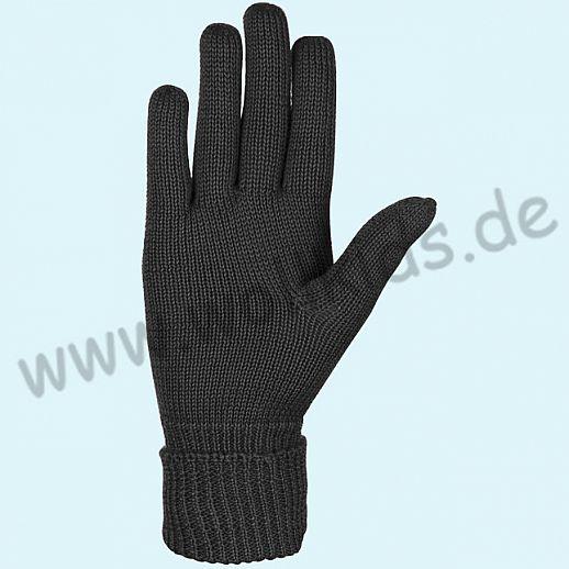 NEU & GENIAL: Endlich auch für Damen: Fingerhandschuhe aus reiner Schurwolle schwarz
