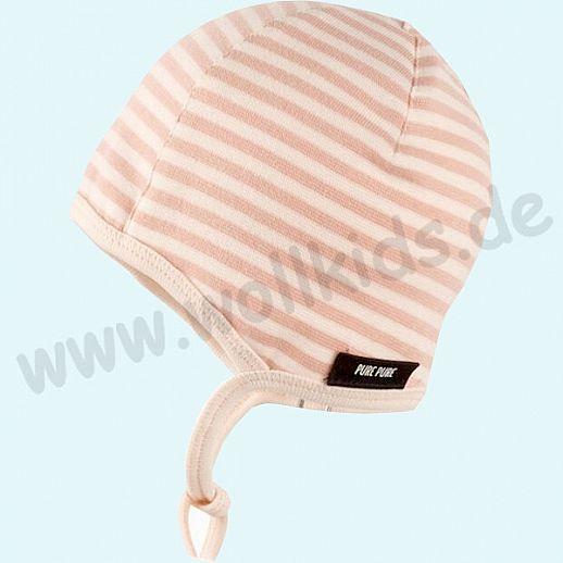 NEU: Baby Sonnenschutz Mütze mit UV Schutz UPF 20-25 - bezaubernde Erstlingsmütze - rose Ringel