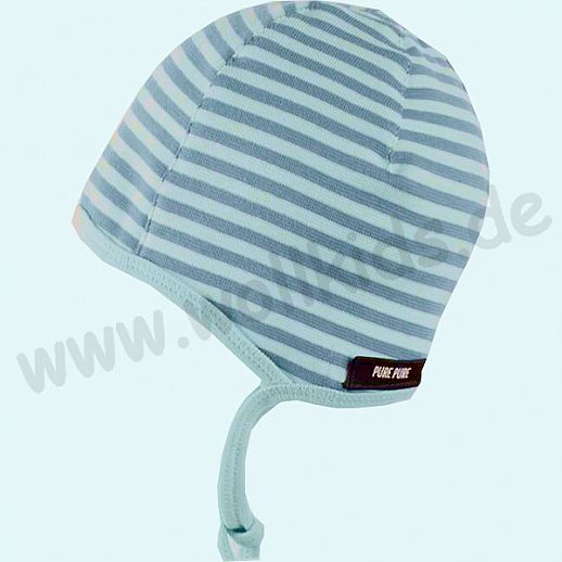 NEU: Baby Sonnenschutz Mütze mit UV Schutz UPF 20-25 - bezaubernde Erstlingsmütze - blau Ringel